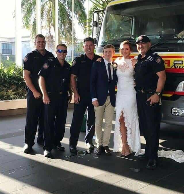 Paramedics & the fire brigade were called to this wedding!